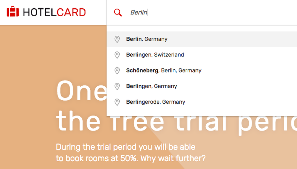 Search & book hotels